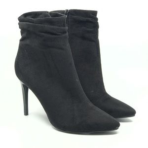 CHINESE LAUNDRY BLACK MICRO FIBER ANKLE BOOT